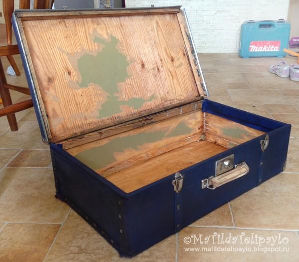 Реставрация старого чемодана видео