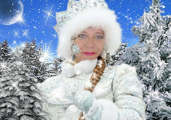 Подставить свое фото в картинку снегурочка