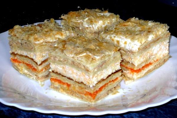 торт слоеных коржей рецепт фото