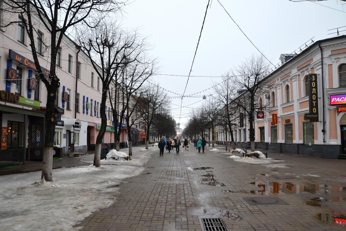 """19. Ярославский """"Арбат"""" - пешеходная улица."""